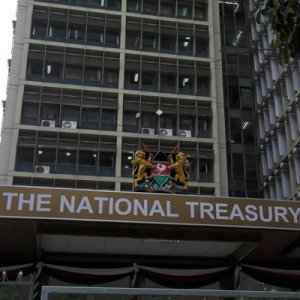 The National Treasury building in Nairobi.