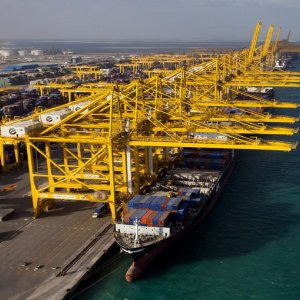 Dubai's imports were up 3% while exports and re-exports grew 5%.