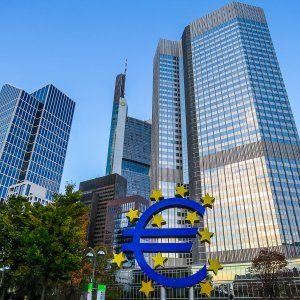 The European Central Bank headquarters in Frankfurt.