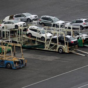 Auto exports declined and energy import costs increased.