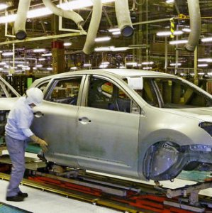 Output of cars and trucks fell by 14.1% in January.