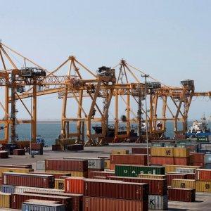 The Red Sea port of Hodeidah in Yemen.