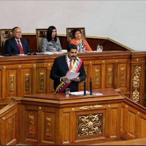 Nicolas Maduro, speaking to the country's legislature.