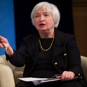 Yellen says economic growth slowed slightly in the  July-September quarter.