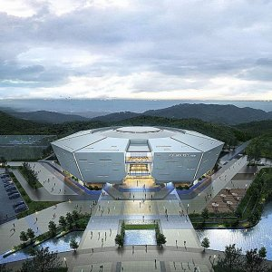 The opening ceremony venue for the Pyeongchang winter Olympics in 2018