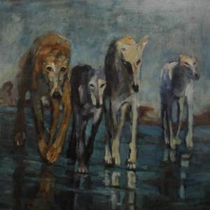 A painting by Parisa Parvaresh