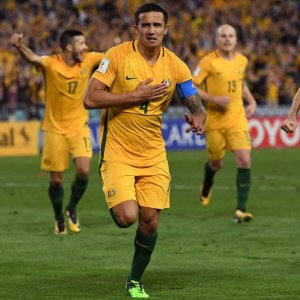 Tim Cahill (No. 4) gave Australia victory in the second half of extra-time.