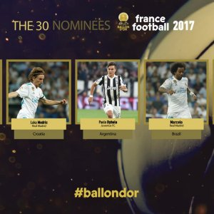 Ballon d'Or 30-Man Shortlist Announced