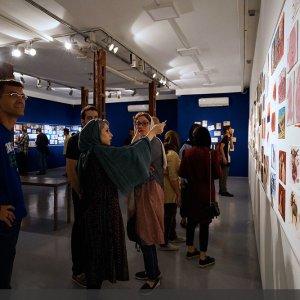 Postcard Art at  Tehran Azad Gallery