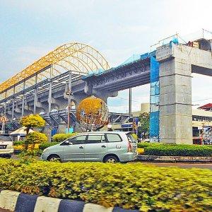 Light rail transit under construction