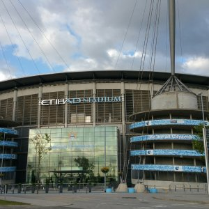 Etihad Stadium in Manchester, home to Manchester City club