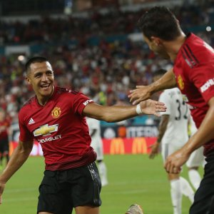 Alexis Sanchez netted the first goal for United.
