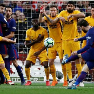 Messi scored his 600th goal and  439th for the Barca.