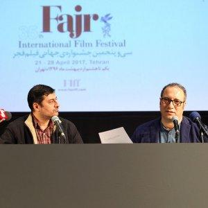 Reza Mirkarimi (R) at the press conference on April 10