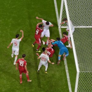 Iranians showed themselves to be formidable opponents  in the first two matches, particularly in defense.