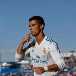 Cristiano Ronaldo scored his first league goal of the season in the win over Getafe.