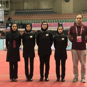 Iran women sepaktakraw team