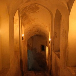 The historical 'Bolour' bathhouse in Qazvin