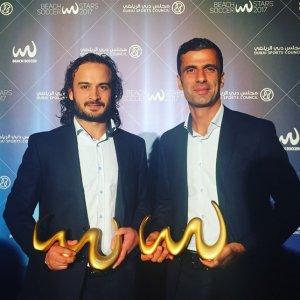 Peyman Hosseini (L) and Mohammad Ahmadzadeh