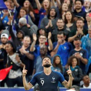 Olivier Giroud scored the first goal for France.