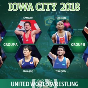 Three Giants and Iran in Wrestling World Cup Pool A