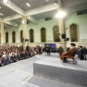 Ayatollah Seyyed Ali Khamenei addresses students in Tehran on Nov. 2.