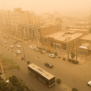 The concentration of dust in Ahvaz was 60 times above the acceptable level on Feb. 13.