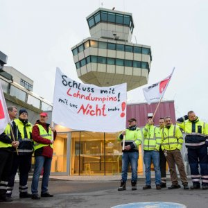 The strike in Berlin's airports started on Friday morning.