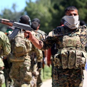 Caption: YPG fighters in northeastern Syria, April 25 (File Photo)