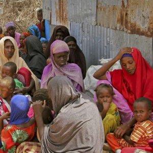 Displaced Somalis in a camp in the capital Mogadishu, Somalia, on Feb. 18. (File Photo)