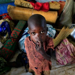 A displaced boy from S. Sudan in Pajok town across the border in northern Uganda (File Photo)