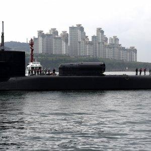 USS Michigan in Busan, South Korea, April 24