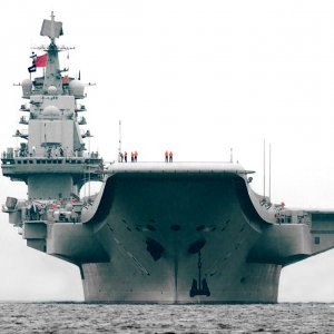 Chinese Aircraft Carrier Enters Taiwan Strait