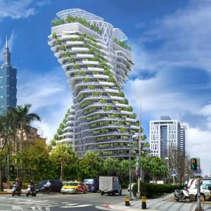 Pollution-Fighting Tower in Taiwan