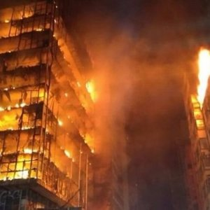Blazing Sao Paulo Building Collapses
