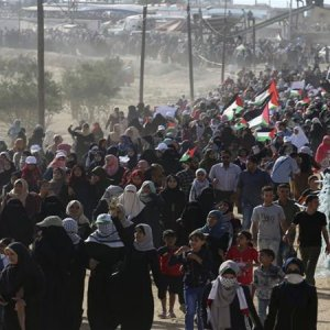 Israeli Forces Wound Scores of Women in Gaza Rally