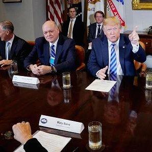 Trump Meets Auto Executives