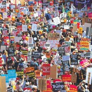 Massive Anti-Trump Protests in Britain
