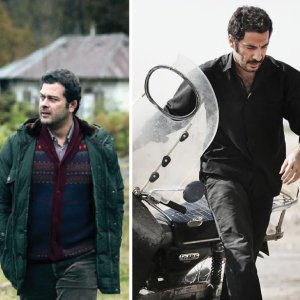 Negar Javaherian in 'Negar' (L), Pejman Bazeghi in 'Esrafil' (C) and Navid Mohammadzadeh in 'Undated, Unsigned'
