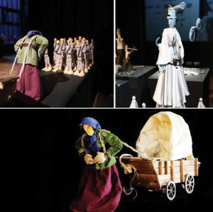 Zahra Sabri and her puppets used in different plays
