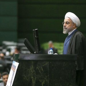 The government lineup is to be unveiled after the oath-taking ceremony, where Rouhani will propose his nominees for 18 ministerial posts to the parliament for a vote of confidence.