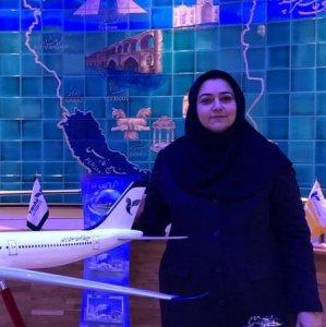 CEO of Iran Air Farzaneh Sharafbafi at the airline's Paris headquarters.