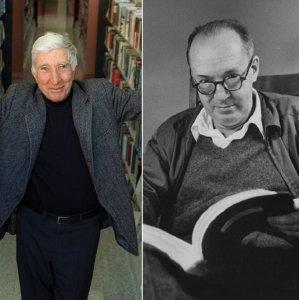 John Updike (L), Vladimir Nabokov (C) and Flann O'Brien