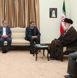 Ayatollah Seyyed Ali Khamenei receives Secretary-General of the Palestinian Islamic Jihad Movement Ramadan Abdullah Shalah in Tehran on Dec. 14.