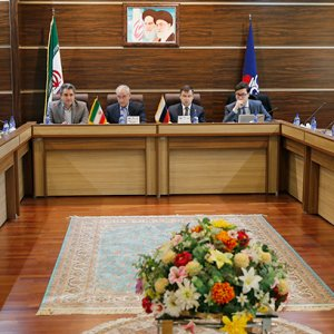 Iranian and Russian officials during a joint energy committee session in Tehran, Dec. 12.
