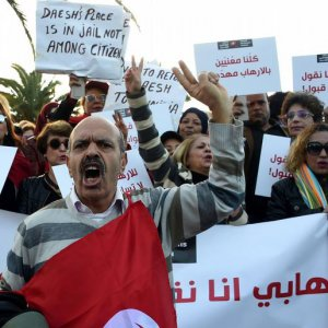 Protests in Tunisia Over Return of Militants