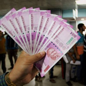 The more secure 500 and 2,000 rupee notes.