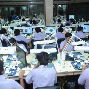 Indian city of Surat cuts and polishes 80% of the world's diamonds.