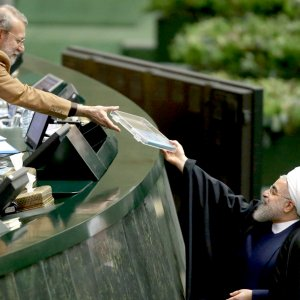 President Hassan Rouhani submitted the budget bill for the March 2017-18 fiscal year to parliament on Sunday.