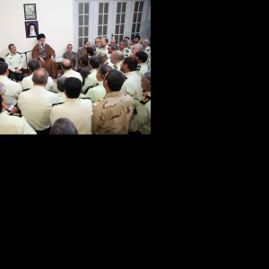 Leader Receives Police Officials